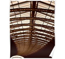 York Train Station Roof  Poster
