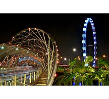 Singapore Helix Bridge Photographic Print