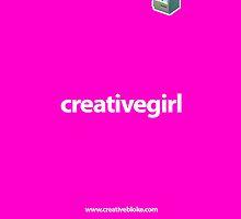 creativegirl - pink - iPhone 4 case by creativebloke
