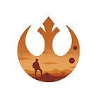 Star Wars - Rebel Alliance Logo II (Luke on Tatooine) by Sevensus