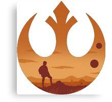 Star Wars - Rebel Alliance Logo II (Luke on Tatooine) Canvas Print
