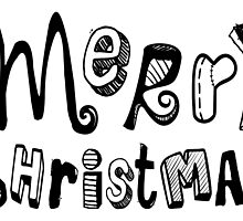 Merry Christmas - Text Design #02 by Silvia Neto