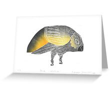 Bird Without A Voice Greeting Card