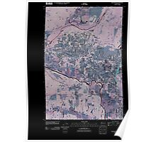 USGS Topo Map Washington State WA Rochester 20110406 TM Inverted Poster