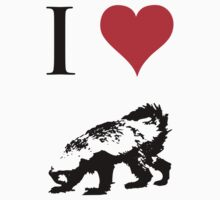 I Love Honey Badger Kids Tee