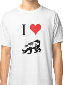 I Love Honey Badger Classic T-Shirt