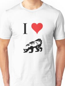 I Love Honey Badger Unisex T-Shirt