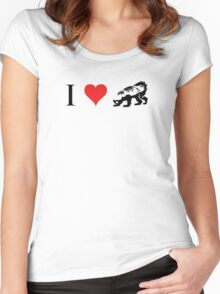 I Love Honey Badger (small) Women's Fitted Scoop T-Shirt