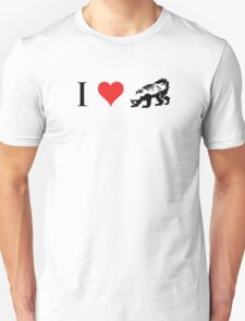 I Love Honey Badger (small) Unisex T-Shirt