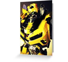 Transformers Bumblebee Toy Greeting Card