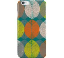 Autumn Leaves (Teal) iPhone Case/Skin