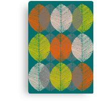 Autumn Leaves (Teal) Canvas Print