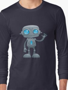 Waving Robot Long Sleeve T-Shirt