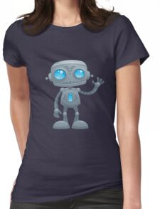 Waving Robot Womens Fitted T-Shirt