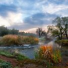 Morning of the autumn river by Dmytro Balkhovitin