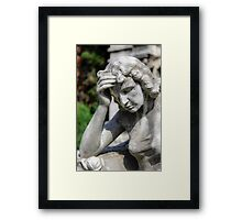 weeping angel, Monumental Cemetery  Framed Print