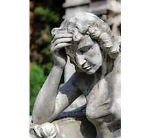 weeping angel, Monumental Cemetery  Photographic Print