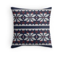 Wooly Fair Isle Jumper Throw Pillow