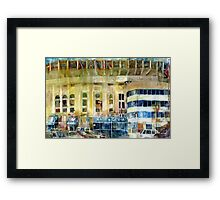 Yankee Stadium, Bronx, New York Art Watercolor Print Framed Print