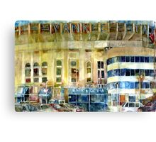 Yankee Stadium, Bronx, New York Art Watercolor Print Canvas Print