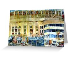 Yankee Stadium, Bronx, New York Art Watercolor Print Greeting Card
