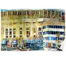 Yankee Stadium, Bronx, New York Art Watercolor Print Poster