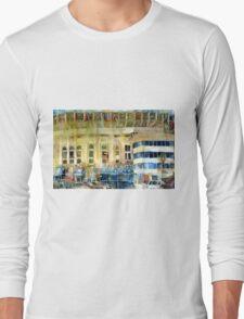 Yankee Stadium, Bronx, New York Art Watercolor Print Long Sleeve T-Shirt