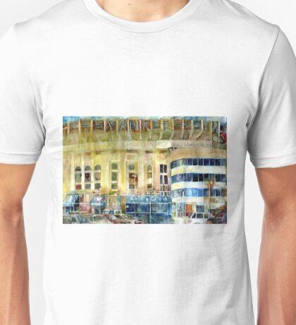 Yankee Stadium, Bronx, New York Art Watercolor Print Unisex T-Shirt