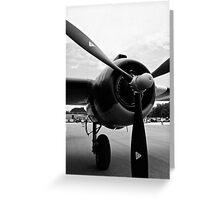 Bomber Propeller Greeting Card