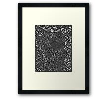Facepage 04 - Psychedelic faces  Framed Print