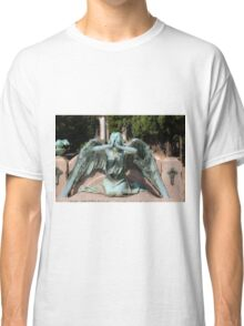 weeping angel at the Monumental Cemetery Genoa, Italy Classic T-Shirt