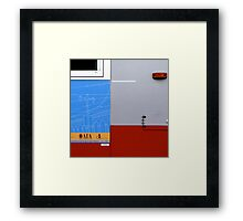 Primary Colors: Urban Bus Abstract Framed Print