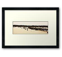 boat pier Framed Print