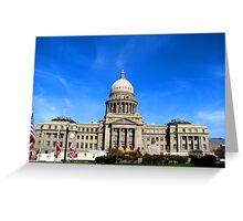 Idaho State Capitol Building in Boise Idaho, USA Greeting Card