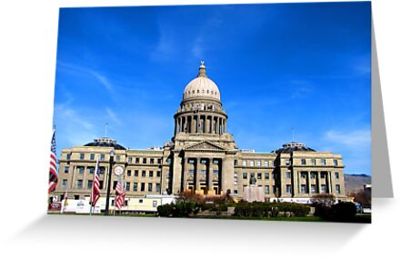 Idaho State Capitol Building in Boise Idaho, USA by Brenda Dahl