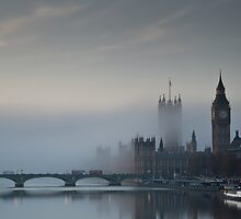 Fog at Westminster - no 1 by Pirvinder Bansel