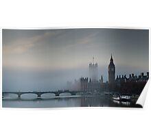 Fog at Westminster - no 1 Poster