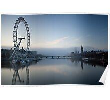 Fog at Westminster - no 2 Poster