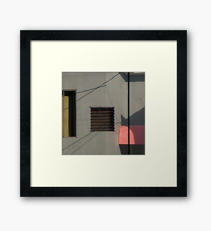 Geometric Urban Abstract Framed Print