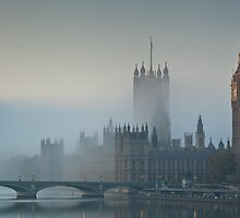 Fog at Westminster - no 3 by Pirvinder Bansel