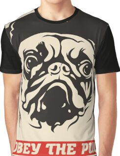 Obey the pug Graphic T-Shirt