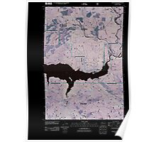 USGS Topo Map Washington State WA Cedar Flats 20110511 TM Inverted Poster