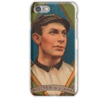 Benjamin K Edwards Collection Harry Wolter New York Yankees baseball card portrait iPhone Case/Skin