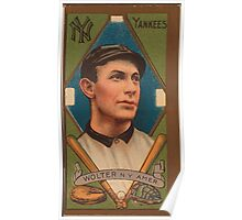 Benjamin K Edwards Collection Harry Wolter New York Yankees baseball card portrait Poster