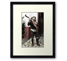 Rob, the Minstrel Framed Print
