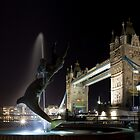 The Tower Bridge Fountain by Pirvinder Bansel