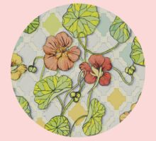 Climbing Nasturtiums in Lemon, Lime and Tangerine One Piece - Long Sleeve