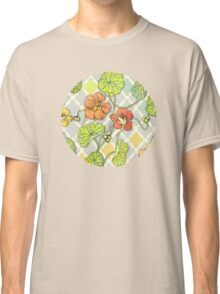 Climbing Nasturtiums in Lemon, Lime and Tangerine Classic T-Shirt