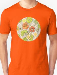 Climbing Nasturtiums in Lemon, Lime and Tangerine Unisex T-Shirt