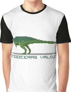 Pixel Stegoceras Graphic T-Shirt